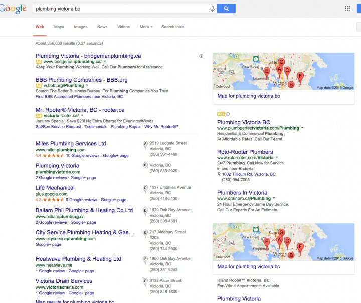 Google + Local search results not the same as Google Maps ... on edinburgh map google, denver co map google, jacksonville map google, niagara falls map google, saskatoon map google, cape town map google, santa barbara map google, phoenix map google, banff map google, portland map google, palm springs map google, rio de janeiro map google, dallas tx map google, minneapolis map google, quebec city map google, atlanta ga map google, winnipeg map google, sitka alaska map google, port townsend map google, auckland map google,