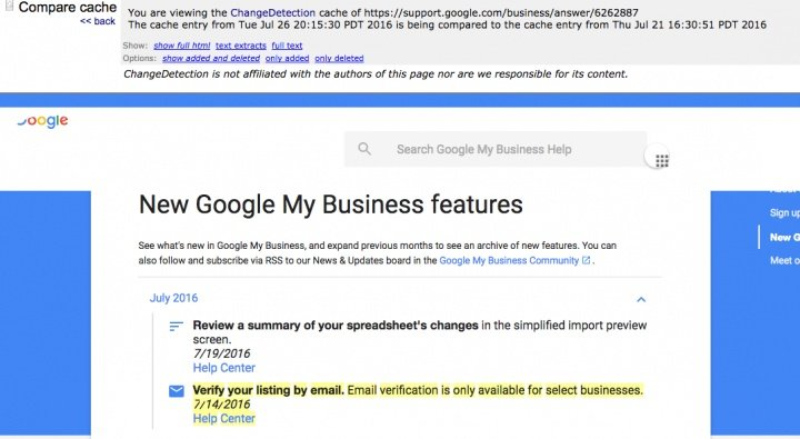 Email - A new way to verify listings on Google My Business